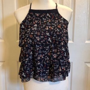 Abercrombie, extra small, navy, floral tank top!